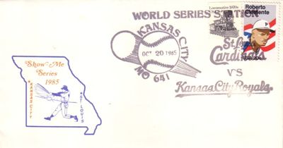 1985 World Series (Kansas City Royals over St. Louis Cardinals) cachet envelope