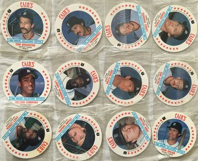1986 Cain's Snack Time Detroit Tigers partial disc set