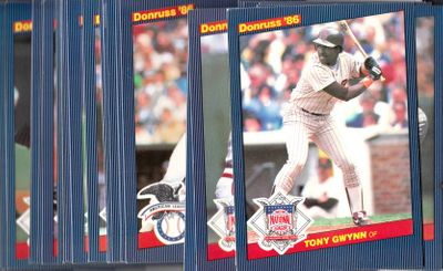 1986 Donruss All-Stars complete 60 jumbo card set (George Brett Tony Gwynn Cal Ripken)