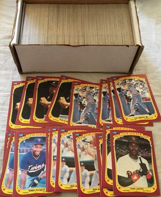 Lot of 358 assorted 1986 Fleer Star Stickers baseball cards (Jose Canseco Tony Gwynn Don Mattingly Kirby Puckett Cal Ripken Nolan Ryan)