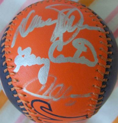 1986 New York Mets autographed baseball (Gary Carter Ron Darling Davey Johnson Howard Johnson Kevin Mitchell Jesse Orosco)