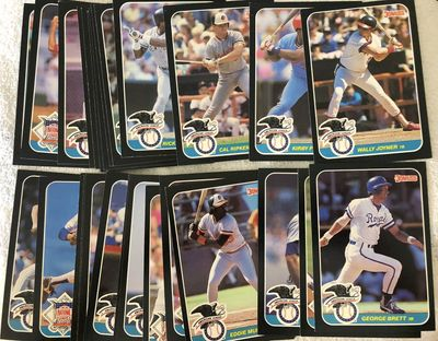 1987 Donruss All-Stars partial jumbo card set (Kirby Puckett Cal Ripken Ryne Sandberg)