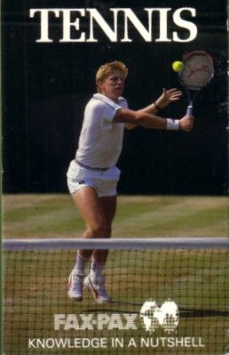 1987 Fax Pax tennis card set (Jimmy Connors Chris Evert Steffi Graf John McEnroe Martina Navratilova)