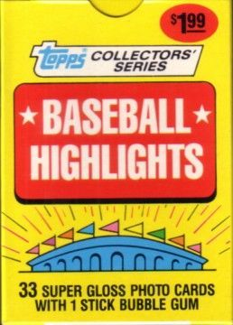 1987 Topps Baseball Highlights 33 card boxed set