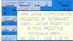 1988 U.S. Figure Skating Championships ticket stub (Debi Thomas)