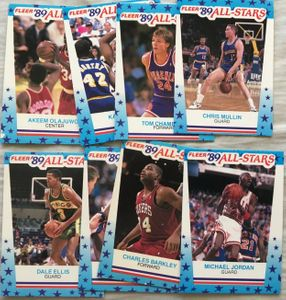 1989-90 Fleer NBA basketball sticker card partial set (Michael Jordan)