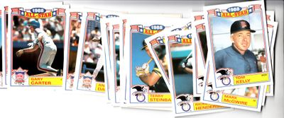 1989 Topps 1988 All-Star Game complete 22 card set (Cal Ripken Ryne Sandberg Ozzie Smith)