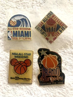 Lot of 4 NBA All-Star Game Weekend pins (1990 1991 1992)