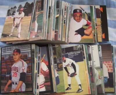 1990 Best minor league baseball card partial set (248 different including Jeff Conine Javy Lopez Bernie Williams)