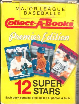 1990 Collect A Books partial set of 12 (Hank Aaron Tony Gwynn Nolan Ryan Ted Williams)
