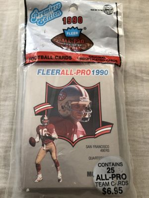 1990 Fleer All-Pro complete 25 football card set (Joe Montana Jerry Rice Barry Sanders)