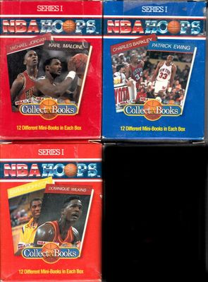 1990 NBA Hoops Collect A Books partial set of 36 (Michael Jordan Charles Barkley Magic Johnson)