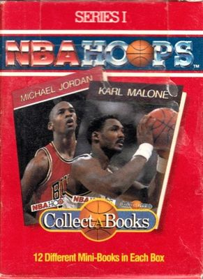 1990 NBA Hoops Collect A Books partial set of 12 (Michael Jordan Clyde Drexler Karl Malone Reggie Miller)