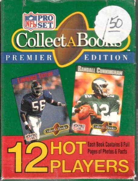 1990 NFL Pro Set Collect A Books partial set of 12 (Troy Aikman John Elway Dan Marino Lawrence Taylor)