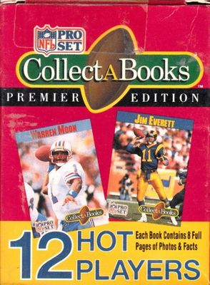 1990 NFL Pro Set Collect A Books partial set of 12 (Dan Hampton Warren Moon Anthony Munoz)
