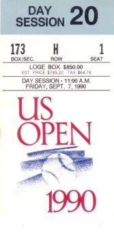 1990 U.S. Open tennis ticket stub (Pete Sampras first Grand Slam win)