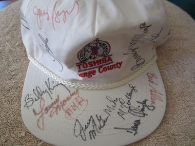 1990s Toshiba Classic autographed golf cap or hat (Gay Brewer Lee Elder)