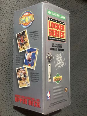 1991-92 Upper Deck NBA Basketball near complete card set in Michael Jordan Locker Series box