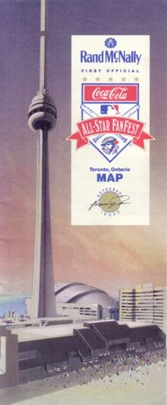 1991 All-Star Fanfest commemorative program & map