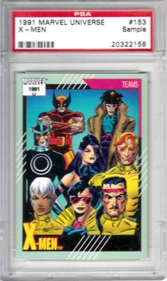 X-Men 1991 Marvel Universe Impel trading card #153 (PSA slabbed)