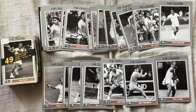 1991 NetPro Legends tennis card partial set Tracy Austin Maureen Connelly Ken Rosewall Stan Smith Tony Trabert
