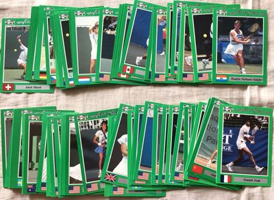 1991 NetPro tennis 78 card partial or starter set Pat Cash Andres Gomez Thomas Muster Yannick Noah Pam Shriver
