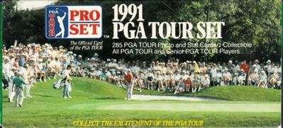 1991 Pro Set PGA Tour complete factory set of 285 golf cards