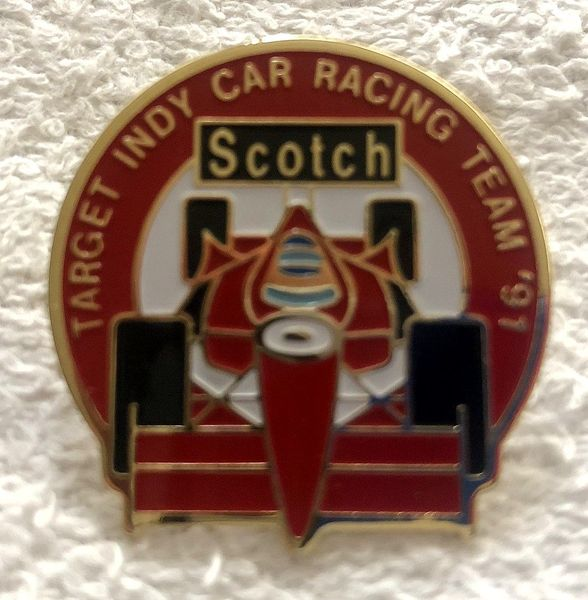 1991 Target Indy Car Racing Team and Indy Racing League set of 2 gold pins