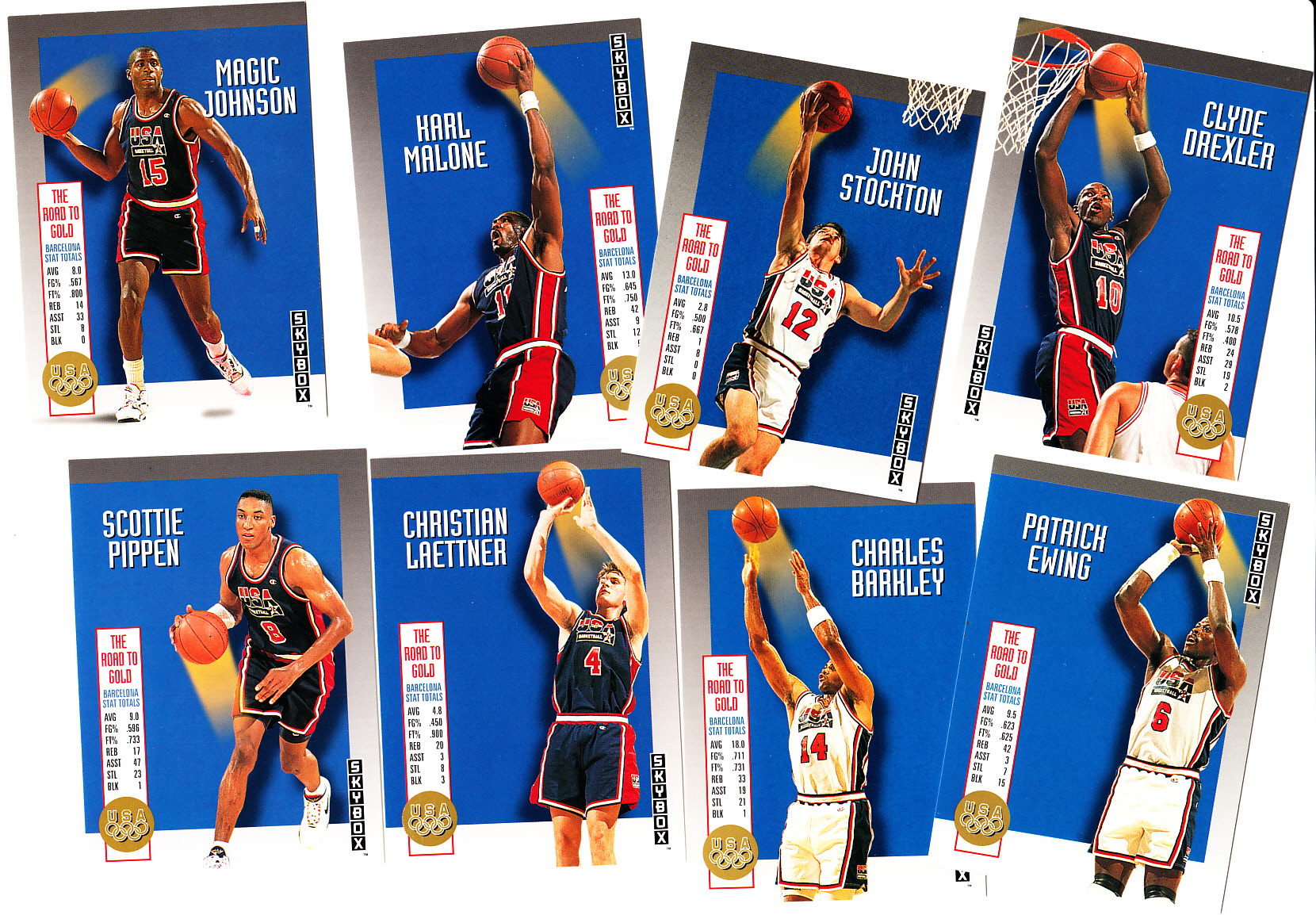 official photos 683cc e8185 1992-93 SkyBox USA Dream Team partial insert set (Charles ...