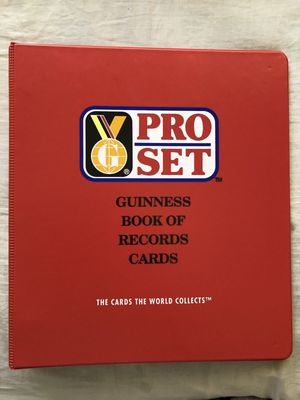 Guinness Book of Records 1992 Pro Set trading cards red three ring album or binder NEW