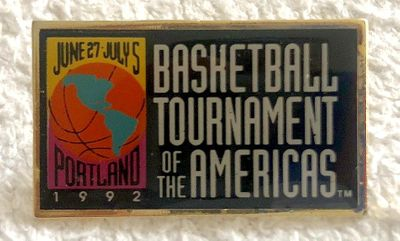 1992 Basketball Tournament of the Americas logo pin (USA Dream Team debut)