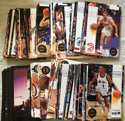 1993-94 SkyBox Premium NBA basketball Series 2 near complete card set (Chris Webber RC)