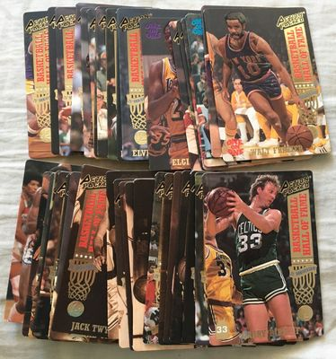 1993 Action Packed Basketball Hall of Fame near complete card set