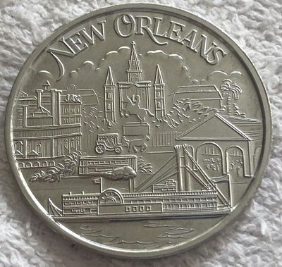 1993 NCAA Basketball Tournament Final Four New Orleans Coca-Cola Hoop City coin