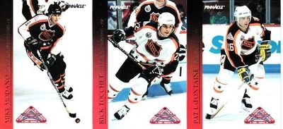 Lot of 3 1993-94 Pinnacle All-Stars insert cards Pat LaFontaine Mike Modano Rick Tocchet
