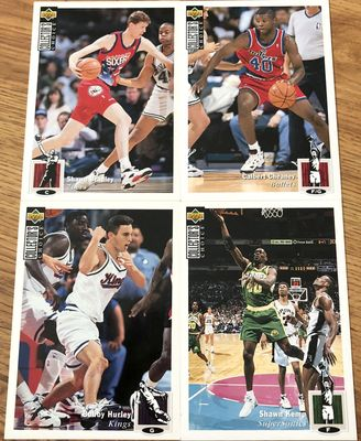 1994-95 Collector's Choice 5x7 Blow Ups partial set (Shawn Bradley Calbert Cheaney Bobby Hurley Shawn Kemp)