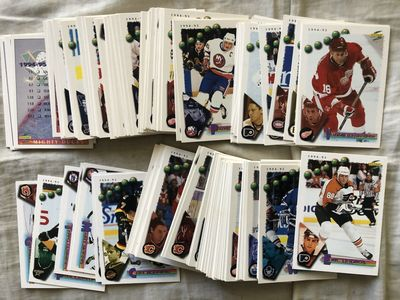 1994-95 Score NHL Hockey partial or starter base card set 152 different (Eric Lindros)