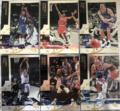 1994-95 Upper Deck SE jumbo insert card lot of 6 Patrick Ewing Jason Kidd Glenn Robinson
