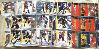 1994-95 Upper Deck SP NHL Hockey partial card set in Ultra Pro sheets