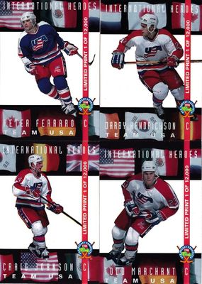 Lot of 4 1994 Classic Pro Hockey Prospects Team USA insert cards (Todd Marchant)