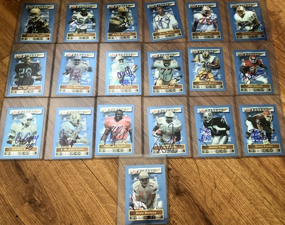 1994 Finest Rookie Jumbos autographed 37 card set Jerome Bettis Drew Bledsoe Garrison Hearst Willie Roaf Will Shields (JSA)