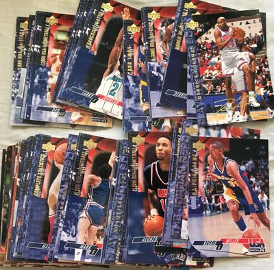 1994 Upper Deck USA Dream Team 2 near complete basketball card set
