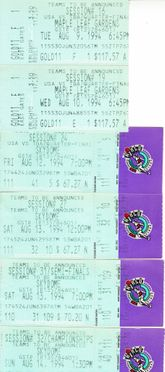 1994 World Basketball Championship lot of 6 ticket stubs (Team USA Dream Team 2 wins Gold Medal)