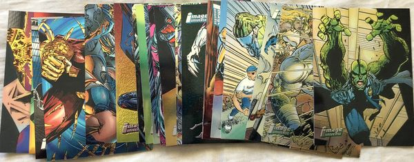 1995 Image Universe Founders Series lot of 27 comic book Topps trading cards (Spawn)