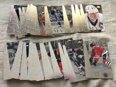 1996-97 Upper Deck Collector's Choice NHL Hockey complete set of 45 MVP insert cards (Wayne Gretzky)
