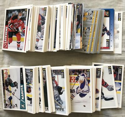 1996-97 Upper Deck Collector's Choice NHL Hockey partial card set (282 different including all superstars)