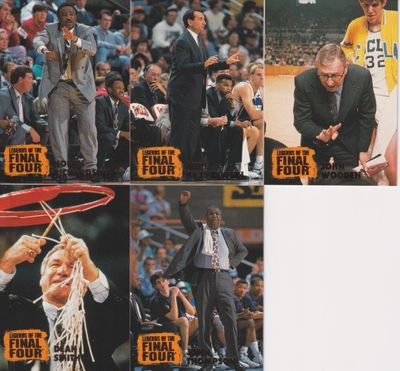 1996 Classic Legends of the Final Four men's coaches 5 card set Mike (Coach K) Krzyzewski Dean Smith John Wooden