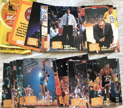 1996 Classic Legends of the Final Four 32 card set (Kareem Abdul-Jabbar Geno Auriemma Cheryl Miller Hakeem Olajuwon Dean Smith Pat Summitt)