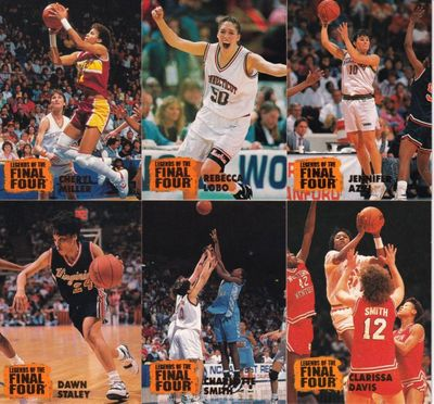 1996 Classic Legends of the Final Four women's basketball partial card set (Rebecca Lobo Cheryl Miller Dawn Staley)