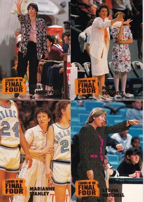 1996 Classic Legends of the Final Four women's basketball coaches near complete card set (Pat Summitt Tara Vanderveer)